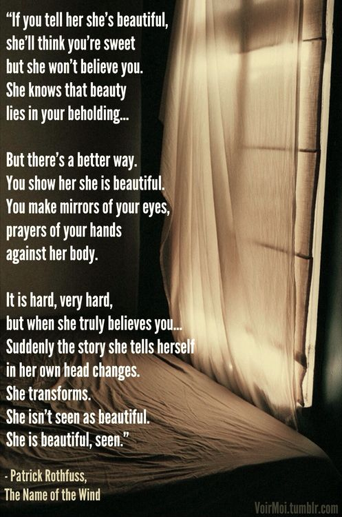 Tell her shes beautiful quotes