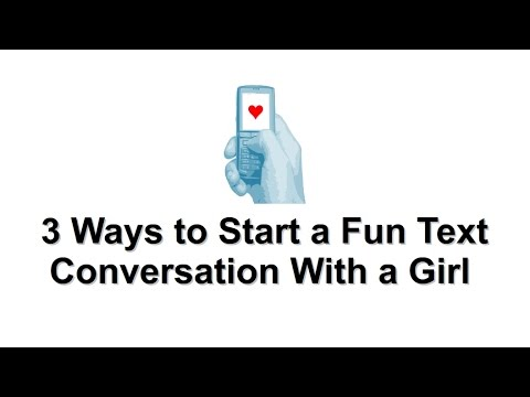 How to hold a conversation with a girl texting