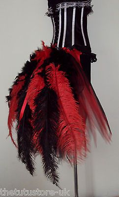 Sexy showgirl feather skirt