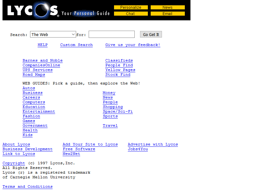 Lycos adult directory