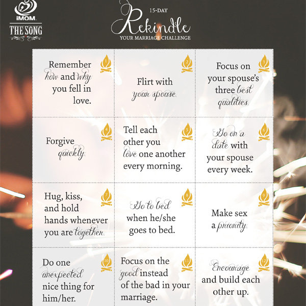 How to rekindle love in a marriage