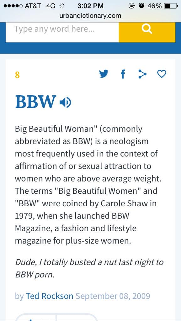 Bbw what does that mean