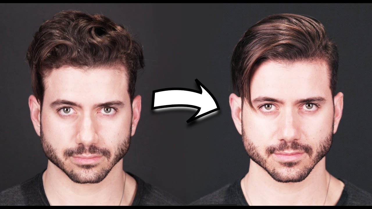 How to make hair straight for men