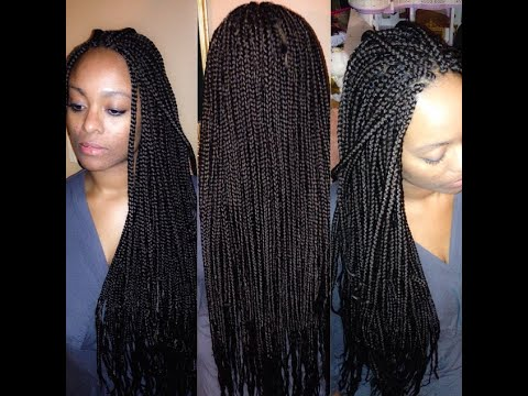 How to do box braids with extensions