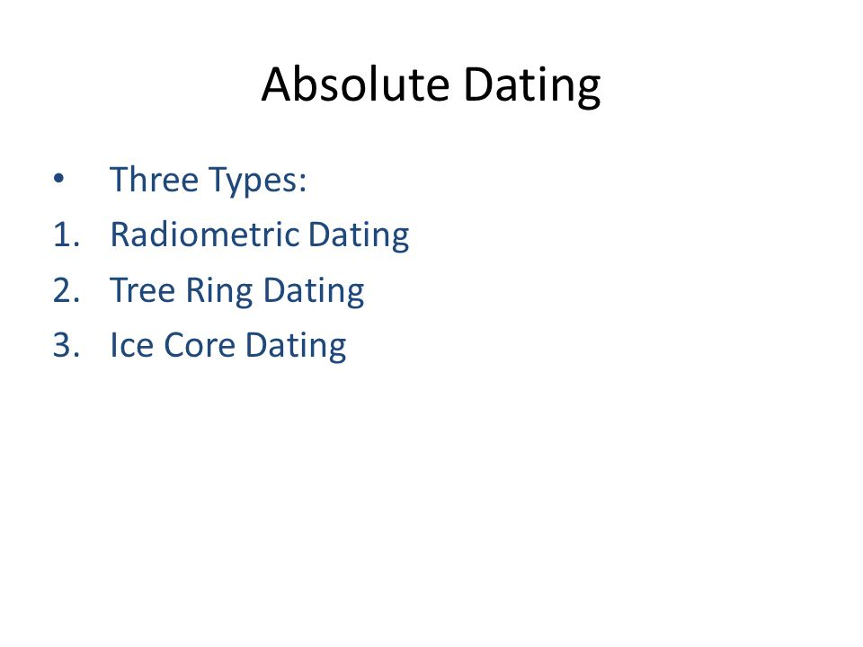 3 types of absolute dating