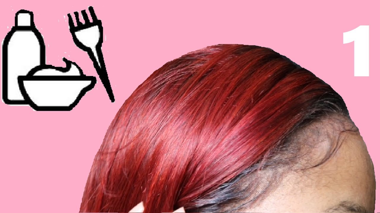 How to dye a lace front wig