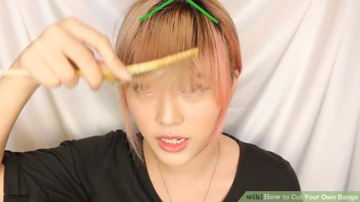 Cut your own fringe bangs