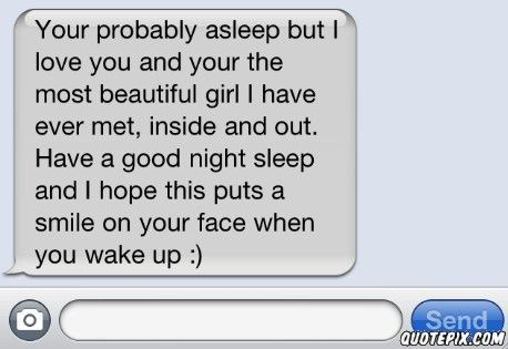 Wake up text to your girlfriend