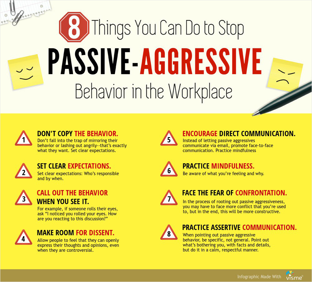Dealing with passive agressive people