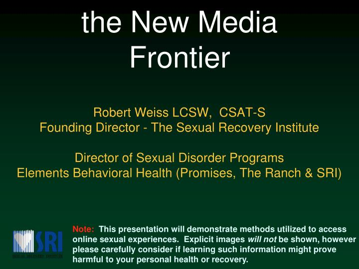Promises the ranch sexual recovery institute