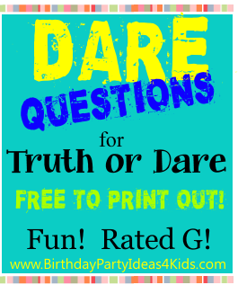 Truth or dare questions 13