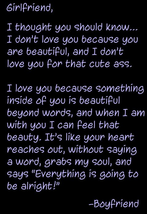 My beautiful girlfriend quotes