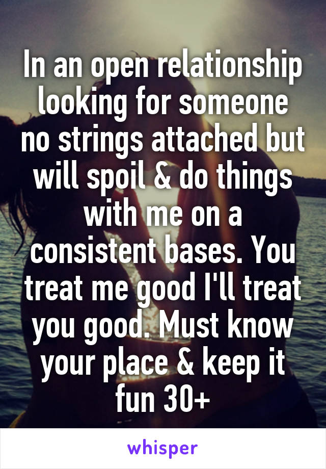 Looking for no strings attached relationship