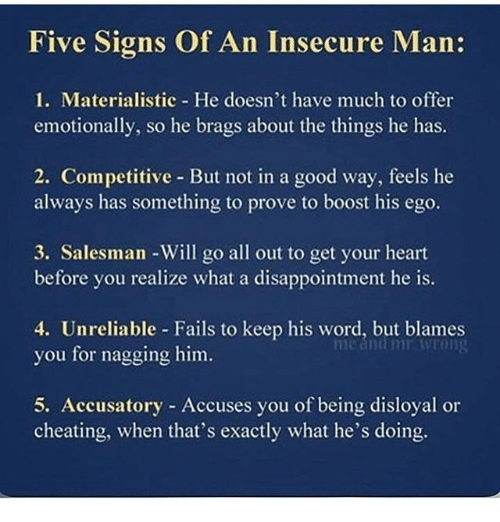 Signs of an insecure girlfriend