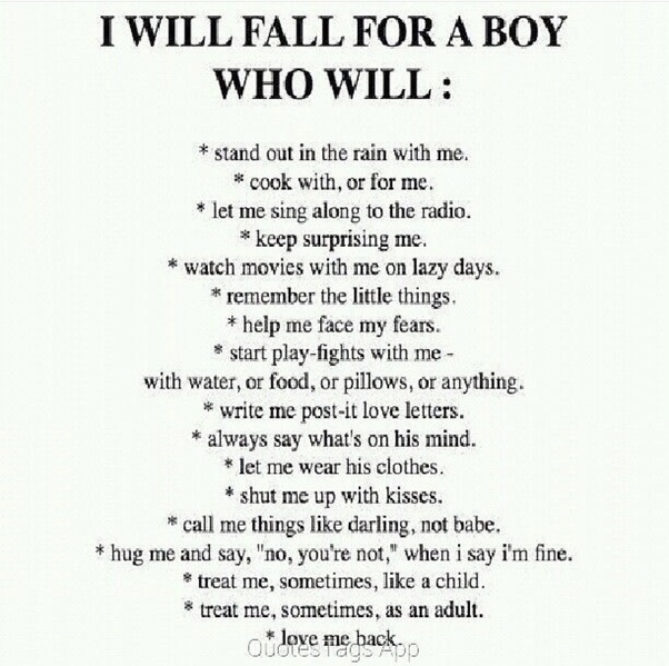 What does girls like in boys