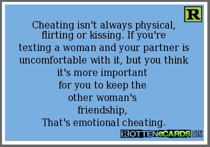 Cheating on your spouse