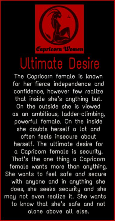 What are the characteristics of a capricorn woman