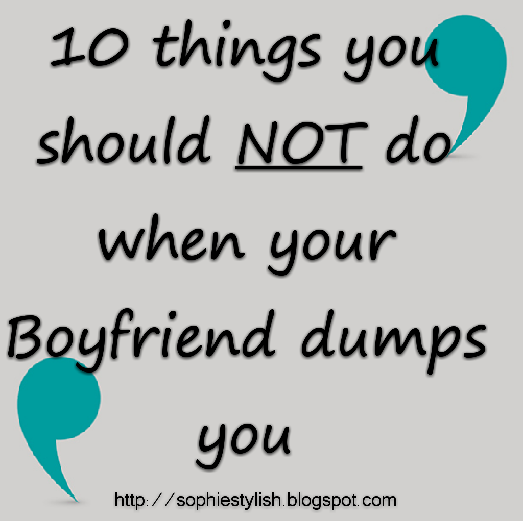 When to dump your boyfriend