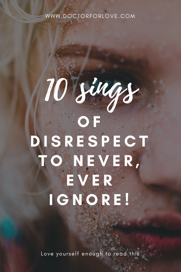 Signs of lack of respect
