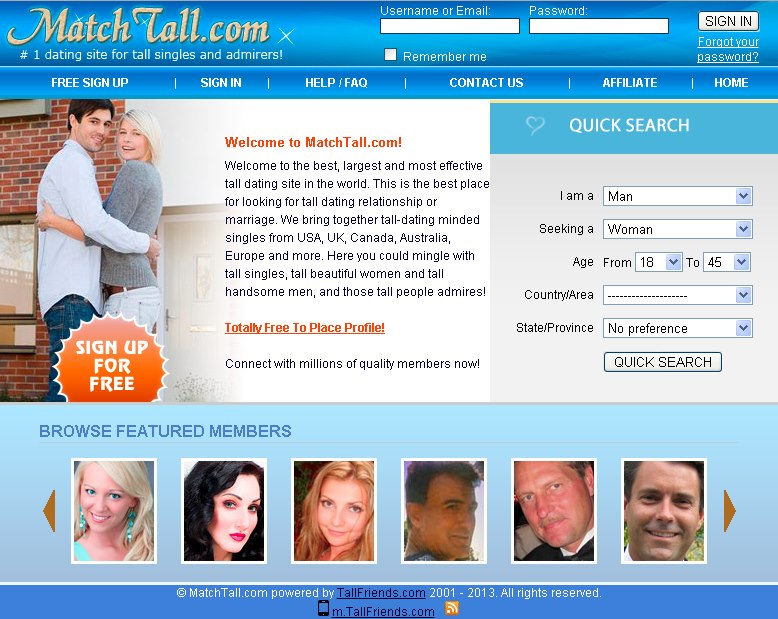 Sign up for free online dating