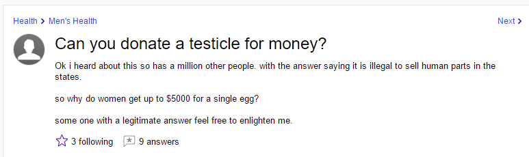 How to donate a testicle for money