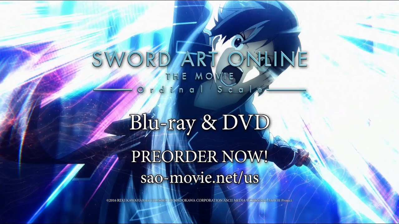 Sword art online ordinal scale release to dvd date