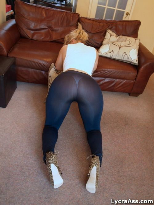 Lycra leggings ass
