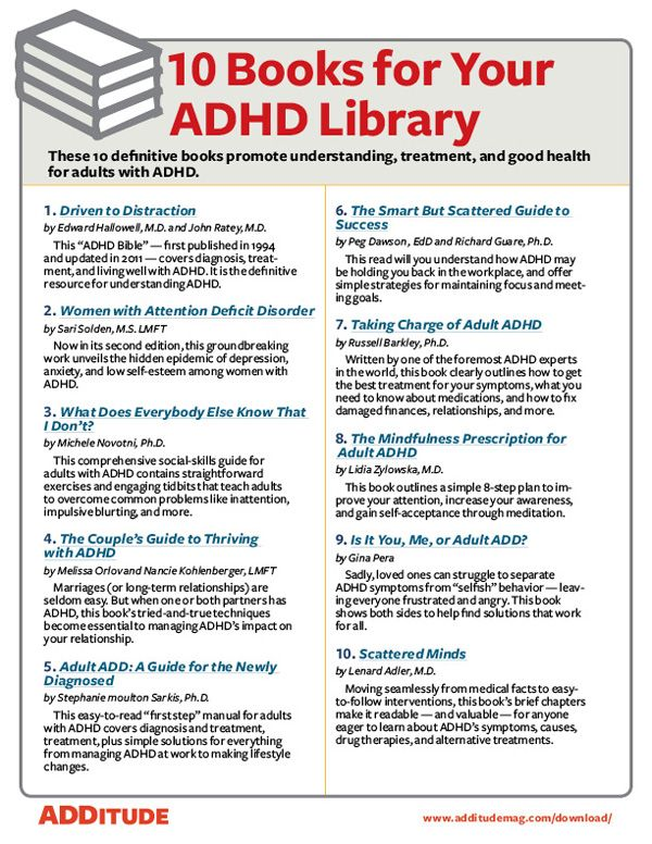 What are the symptoms of add in adults