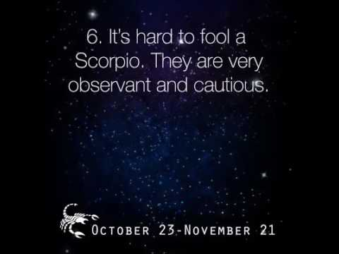 What are the characteristics of a scorpio