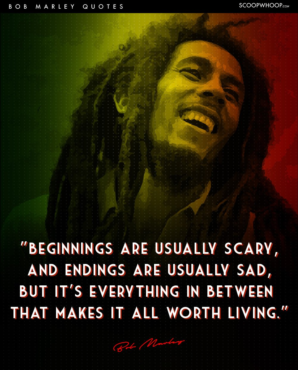 Quotes of bob marley about life