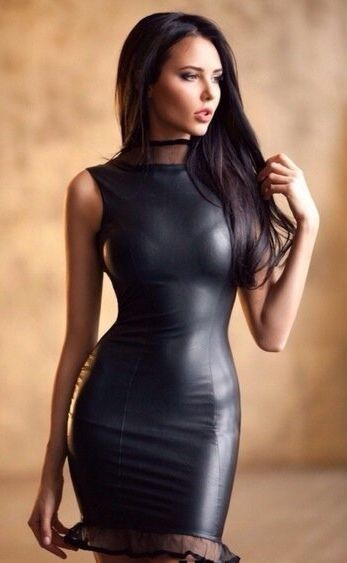 Hot girls in tight leather