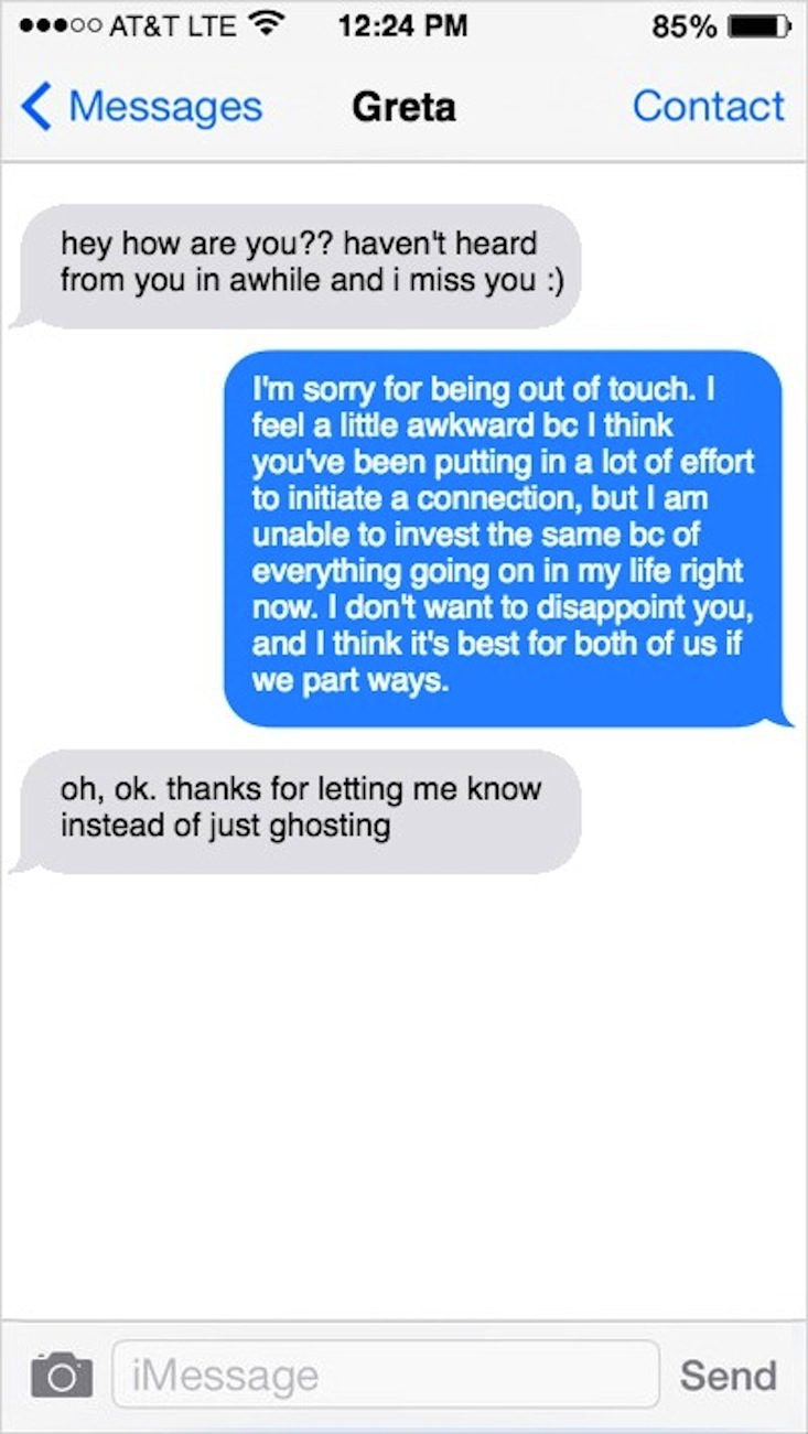 How to break up with your boyfriend over text