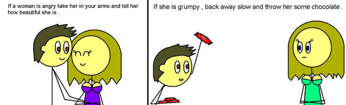 When girl is angry what to do