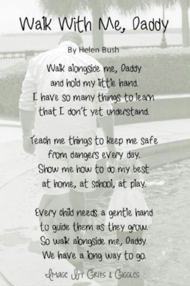 A little girl needs her daddy poem