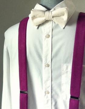 How to wear bow tie and suspenders