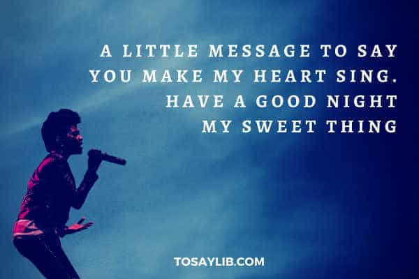 Sweet words to say goodnight to your girlfriend