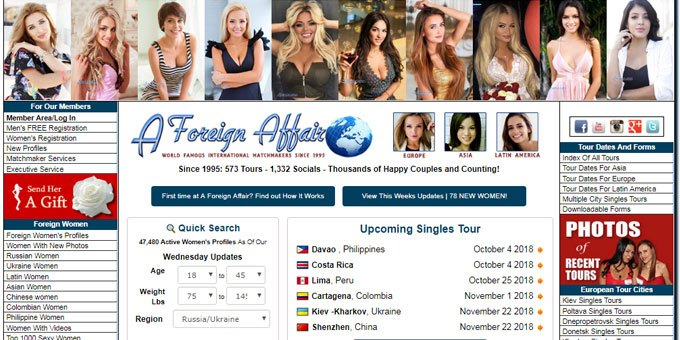A foreign afair international dating services