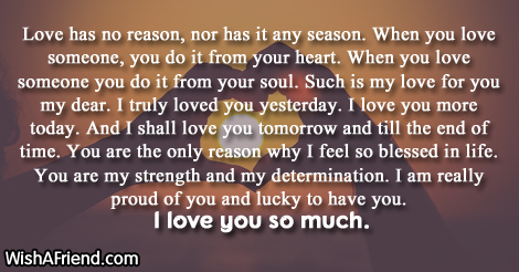 A letter for someone you love