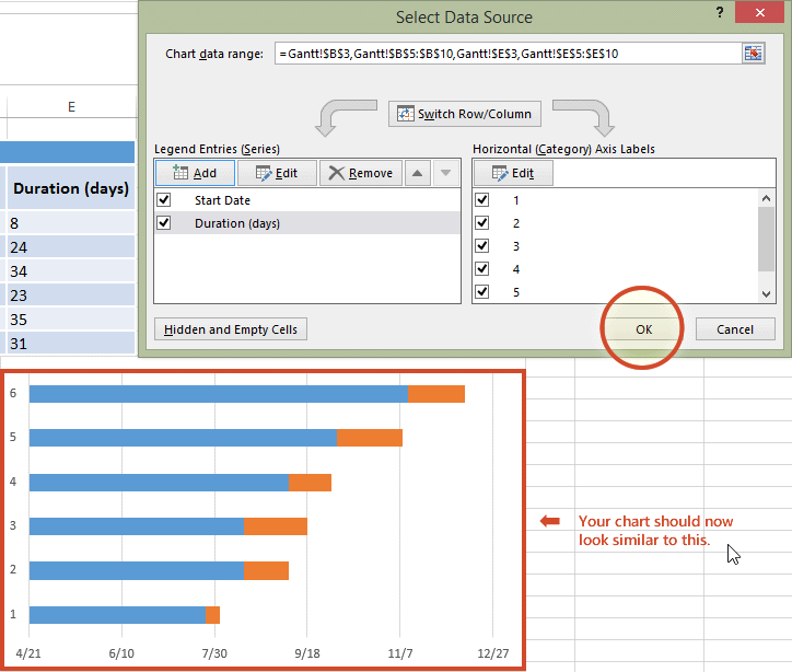 Automatically updating excel charts in powerpoint