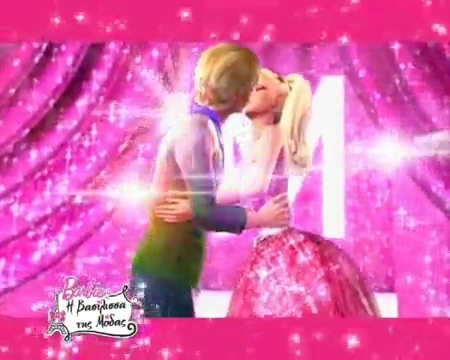 Barbie and ken kissing in real life