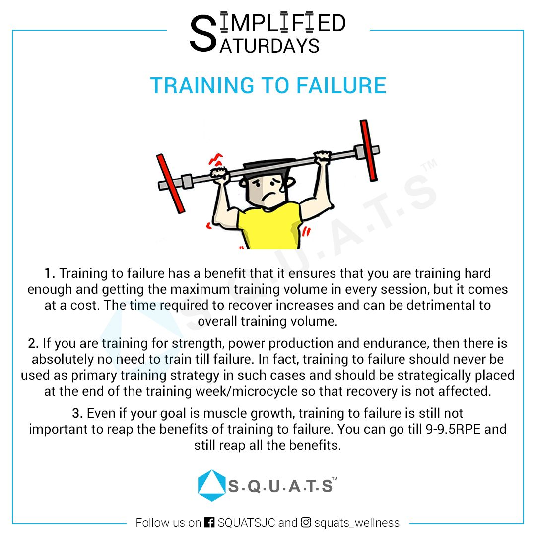 Benefits of training to failure