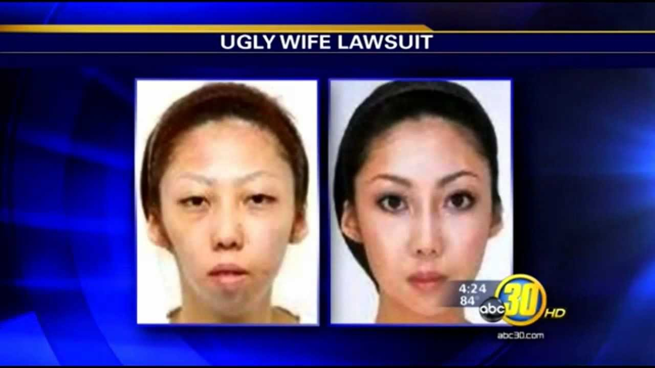 Asian man sues wife for being ugly