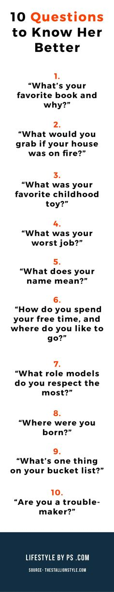 Best questions to ask to a girl