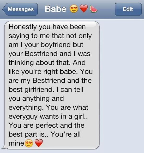 A long paragraph to your girlfriend