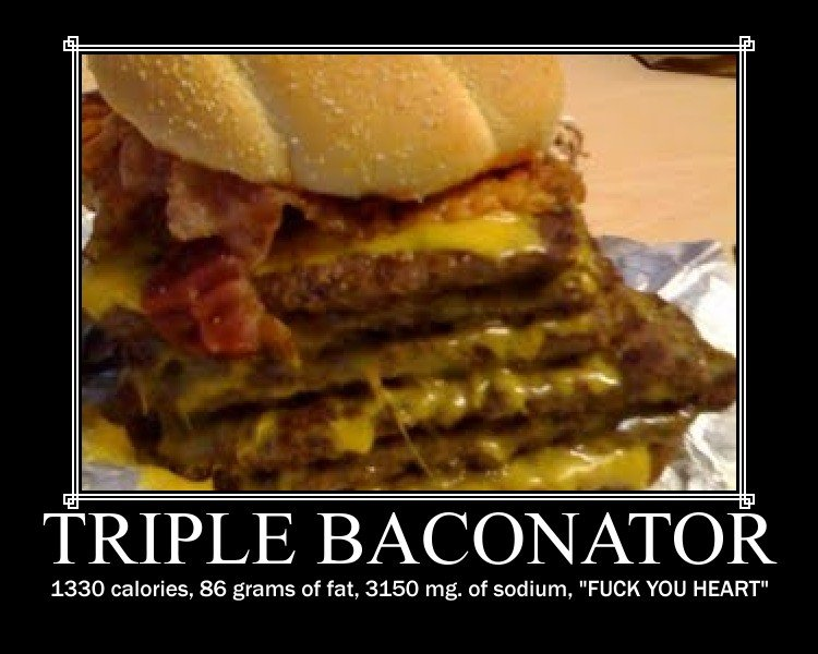 Calories in a triple baconator