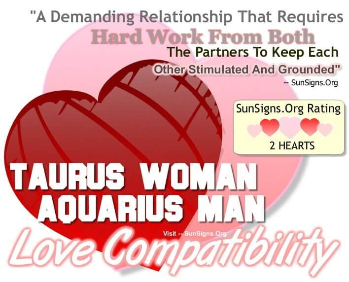 Can a taurus woman and aquarius man work
