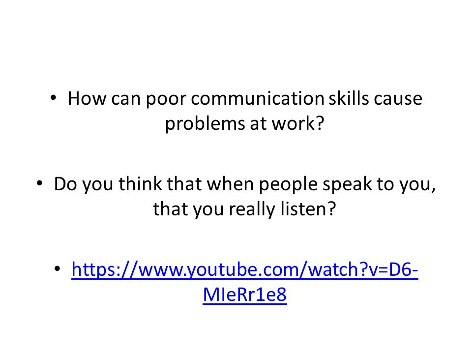 Causes of poor communication skills