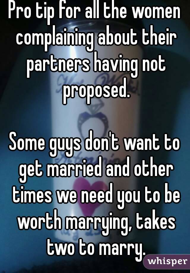 Why guys don t want to get married