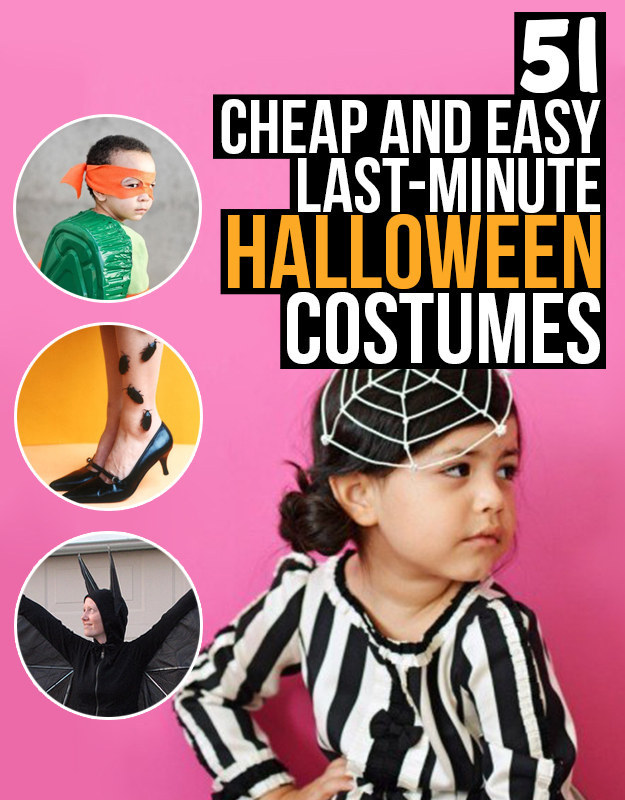 Cheap and easy to make halloween costumes