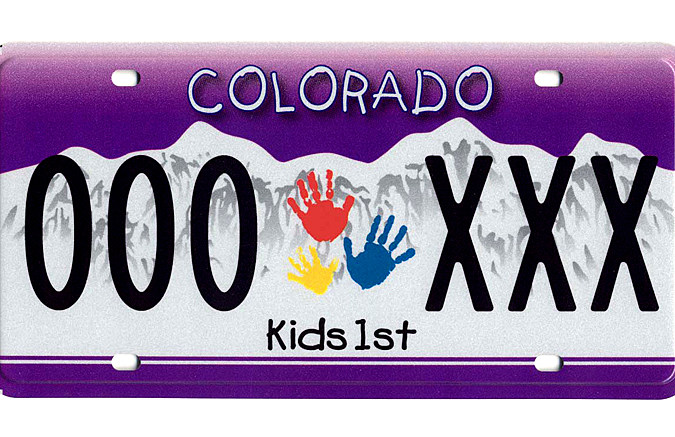 Colorado pioneer license plate